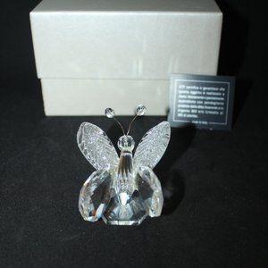 Italian Crystal Butterfly Figurine
